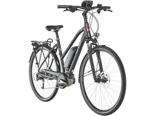 Ortler Tours Nyon E-trekkingcykel Trapez sort | City-cykler